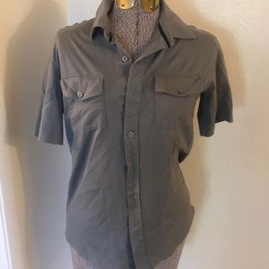 Men's express gray shirt button down